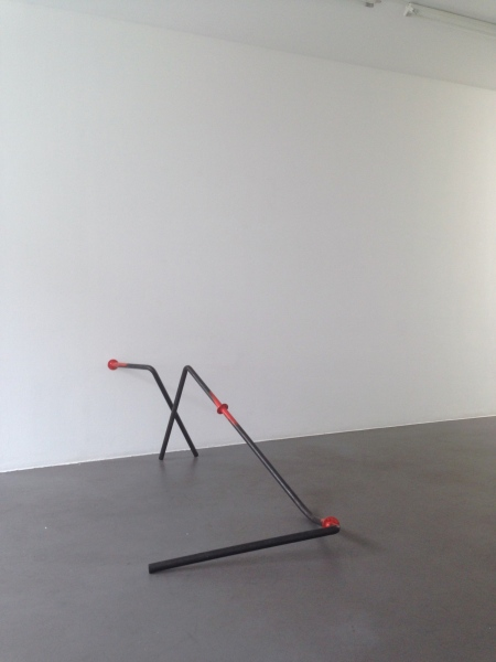 Railing #4 2015 Between Here And Now, Gallery Marion Scharmann, Cologne Steel, Lacquer